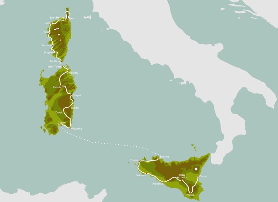 The Mediterranean Ride map
