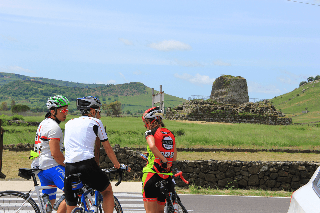 Bike in the Nuraghe island