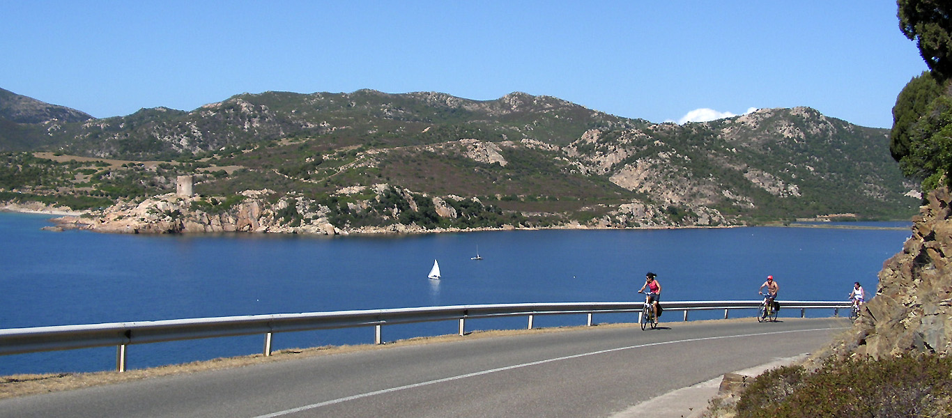 Cycling on Porto Teulada